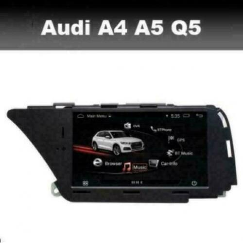 Audi A4 A5 Q5 navigatie android 9.0 gps wifi carkit dab+ usb